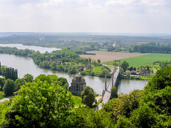 Vue depuis Château-Gaillard (DavidB1977) Tags: france canon pont ixus500 eure lesandelys châteaugaillard hautenormandie