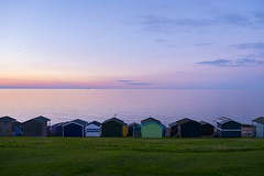Whistable (DaveWilliams) Tags: sunset sky beach water hut