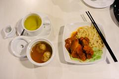 Braised pork noodle with wonton soup (iheresss) Tags: above food soup restaurant bangkok sony voigtlander egg chinese indoor pork chopsticks wonton noodle 40mm nokton topview braised a7r
