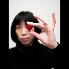(Masahiro Makino) Tags: woman japan photoshop japanese kyoto heart f14 sigma olympus adobe 京都 日本 lightroom 30mm e500 20080214185236e500ls640p
