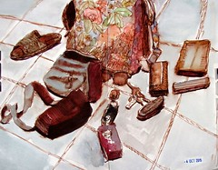 Inside the Backpack (IrinaIrina) Tags: life ink watercolor still sketchbook everydaymatters