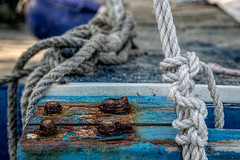 True Grit (jenni 101) Tags: colour texture grit boat rust marine dof grain rope knots shallowdepthoffield