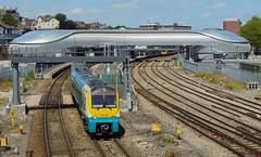 175116 1V95 1040 Holyhead - Llanelli and 142075 2L59 1345 Cheltenham Spa - Maesteg at Newport 29.06.2015 (The Cwmbran Creature.) Tags: train rail railway trains class british railways 142 pacer 175