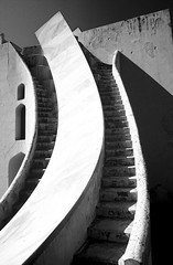 Jantar Mantar - Jaipur India (jcbkk1956) Tags: blackandwhite india film 35mm mono pentax steps slide scanned jaipur rajasthan jantarmantar astronomical scientific instuments viagginelmondo worldtrekker