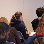 Students at a presentation