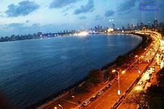 # QueensNecklace (SoniJigar) Tags: city sea square squareformat mumbai seaface queensneckless instagramapp uploaded:by=instagram