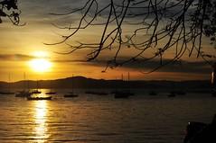 não vá... (Ruby Ferreira ®) Tags: sunset boats bay barcos branches silhouettes hills baía silhuetas