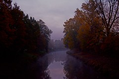Autumn morning (fnumrich) Tags: morning autumn color water river dust rems