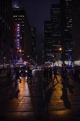 Day 57/365 (Alexander Marte Reyes) Tags: street city newyorkcity nightphotography shadow people night walking lights cops outdoor streetphotography midtown tamron radiocitymusichall highiso 365project 6avenue nikonphotographers 365photographychallenge nikond750