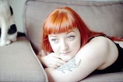 film (La fille renne) Tags: portrait people woman film car tattoo analog ink 35mm model indoor piercing redhead canonae1program 50mmf18 lomography100 lafillerenne spookyvalentine