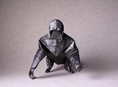 Gorilla (IG: bartfartsart) Tags: art animal paper fun monkey origami gorilla craft hobby ape beast interest 2015