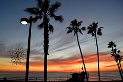 sunset (greenelent) Tags: ocean california ca light sunset sun beach photoaday 365 manhattanbeach