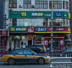Fast Food (mingsquared) Tags: china street city urban food nikon taxi beijing restaurants fast mcdonalds   nikond3200 tokinaaf1224mmf4