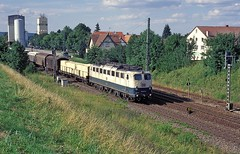 150 071  Bondorf  19.07.96 (w. + h. brutzer) Tags: analog train germany deutschland nikon eisenbahn railway zug trains db 150 locomotive lokomotive elok eisenbahnen e50 eloks bondorf webru