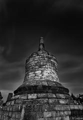 stupa plaosan (wan liem) Tags: travel white black indonesia temple photography long exposure destination gr yogyakarta ricoh candi plaosan