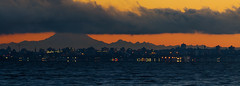 Sunrise over Victoria BC (C McCann) Tags: ocean park city morning sea sky panorama orange cloud seascape canada water clouds sunrise dawn cityscape baker bc pacific britishcolumbia lagoon victoria mount vancouverisland mtbaker daybreak metchosin colwood alberthead