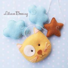 (Liliane Boesing) Tags: gato beb feltro coelho mbile enfeite