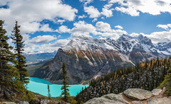 Fall Colors at Lake Louise and Fairview Mountain (Brett Abernethy(www.brettabernethy.com)) Tags: banff national park lakelouise lake louise fairviewmountain