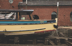 Repairs (gothick_matt) Tags: repair emily ferry maintenance bristol boat harbour underfallyard harbourside floatingharbour uk places unitedkingdom