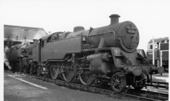 BRITISH RAIL 80033 @ TONBRIDGE 1-12-1963 (JOHN MORGAN .) Tags: vintage found photo white works water england engine rail railroad royal the train transport this yard uk unusual unitedkingdom unknown unique interesting iron old on of ornament photos photographer people paddington and album artist a at steam scrap sussex different drbeeching dr for guess gwuk junction johnmorgan london locomototives locomotive looking location coal chimney vintagephoto victorialondonuk bw black british britishrail br beeching name no new national nine model man motor motors museum made
