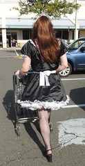 Off to the races! (rgaines) Tags: costume cosplay crossplay drag frenchmaid halloween shopping