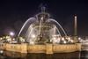 Fontaine des Fleuves, Paris (Michel Couprie) Tags: france paris night nuit water architecture obélisque reflection wideangle statue street streetlamp art sculpture flare longexposure canon eos couprie tse24mmf35l fontaine fountain concorde placedelaconcorde fontainedesfleuves