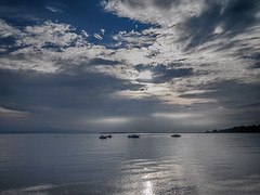 Only silence. (Marythere *on/off*) Tags: lakescape clouds impressivesky silence mood lakegarda peaceful