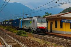 BLS E186.109 (DavideEos) Tags: eisenbahn ferrovia railway treno train zug merci freight binari domodossola sempione
