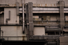 Pipes (alexander_nachev) Tags: japan travel trip abstract simple art fine green nature architecture hirano mist empty emptiness city busy forest trees textures foggy fog lake fuji fujisan mount japanese order