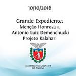 Grande Expediente - Men��o Honrosa a Antonio Luiz Demenchucki - Projeto Kalahari