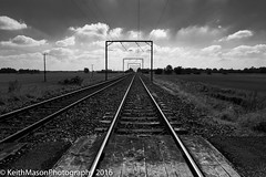 Rail Tracks, Ely, Monochrome (KeithMasonPhotography (a.k.a. Scooter.john)) Tags: vanishing point bw monochrome train track