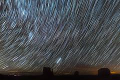 Monument Valley Star Trails (HubbleColor {Zolt}) Tags: stars night timelapse startrails monumentvalleynavajotribalpark arizona