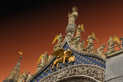 High Above the Angels (Harry2010) Tags: sliderssunday stmarkssquare venice italy angels wingedlion