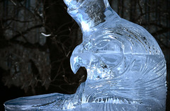 Frost is coming! (LynxDaemon) Tags: winterlude ice transparent osiris egypt mythology sculpture gods hawk translucide duotune animal horus glass
