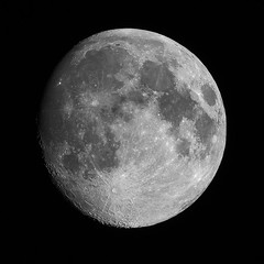 Waxing gibbous moon (94 %) #2 (billd_48) Tags: ohio summer nature sky night astrophotography moon waxing 94 stacked