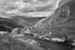 Top of the Falls b/W (hr43) Tags: fallsofglomach sallachy loch long dornie wester ross highland scotland