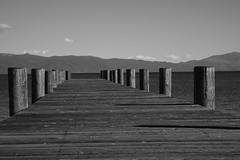 LAKE TAHOE VIEW B+W (Mike Reval) Tags: lake tahoe ca usa landscape pier bw