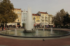 "Fountain, ""Stefan Stambolov"" Square, Plovdiv (nikolaylozanov8006) Tags: outdoor city water street square plovdiv foutain bulgaria thrace building"