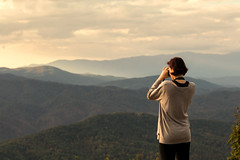 Take my breath away (Irina1010) Tags: sunrise light bautiful panoramic mountains smokeymountains appalachian foothillsparkways woman canon nature outstandingromanianphotographers