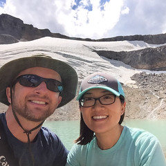 Just us, a lake, and a glacier (GlobalGoebel) Tags: alta wyoming unitedstates us iphone iphone6 grand teton national park selfie backcountry backpacking tetoncresttrail