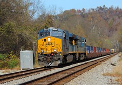 CSX 3265 and 3138 (Trains & Trails) Tags: csx 3265 fitzhenry smithton defectdetector q13805 relaybox engine ge widecab locomotive diesel transportation yn3 darkfuture westmorelandcounty pennsylvania intermodal container et44ah gevo generalelectric