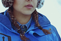 Do you wanna build a snowman? (TheJennire) Tags: photography fotografia foto photo canon camera camara colours colores cores light luz young tumblr indie teen vallenevado portrait detail self girl people chile trip winter cold braids snow