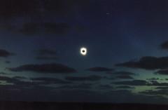 Solar eclipse at Ceduna 2/2 (omnia2070) Tags: australia south ceduna solar eclipse sun dark darkened moon cloud sea ocean shine aura 2002 total