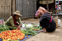 business (diatoscope) Tags: nikon d7000 burma market vegetable inlelake shanstate