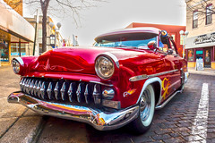 Hot Rod (DJ Wolfman) Tags: hotrod color red cars automobiles classiccars chrome classic saturated michigan stjoseph westmichigan fall