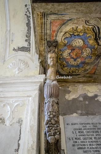 Guardia Lombardi (AV), 2016, La Chiesa Madre: l'organo, la cantoria e le cariatidi.