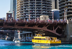 The Chicago River turn of blue as the city continues celebrating World Series champion Chicago Cubs. (Natasha J Photography) Tags: the chicago river turn blue city continues celebrating world series champion cubs