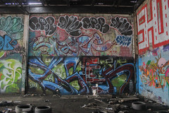 Loser, Spar, Chef, Snarf, Ript (NJphotograffer) Tags: graffiti graff new jersey nj newark abandoned building urban explore shortys diy skatepark loser aids crew spar chef snarf 2w 2wcrew ript hsc ckd