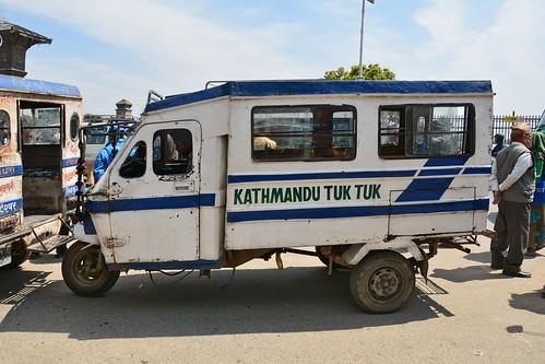 Nepal - Kathmandu - Streetlife With Auto Rickshaw - 116