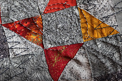Stitch (alison's daily photo) Tags: macromondays macro stitch patchwork sewing 100xthe2016edition 100x2016 image87100